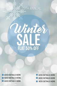 Winter flyer, Party flyer, Event flyer