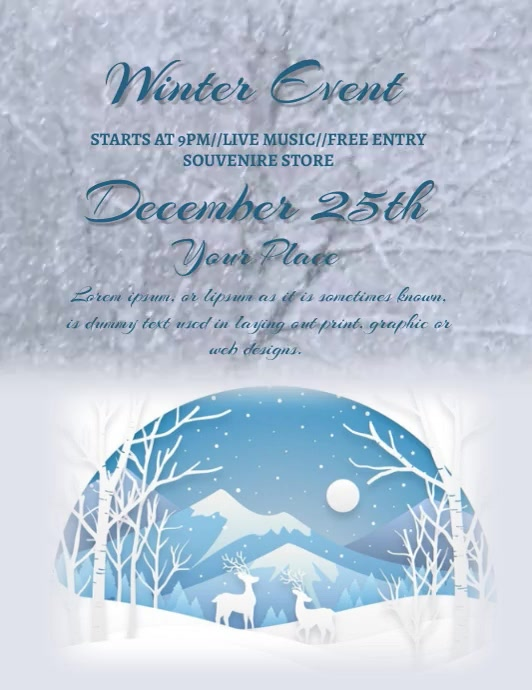 WINTER FLYER ใบปลิว (US Letter) template