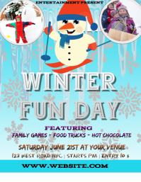 WINTER fun day EVENT FLYER POSTER TEMPLATE