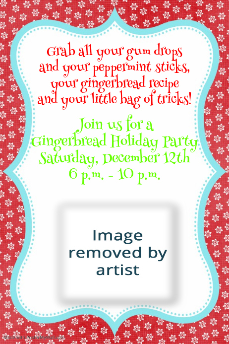 Winter Holiday Christmas Cookie Party Event Flyer Invitation