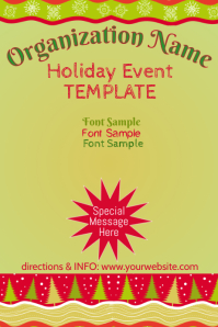 Winter Holiday Event Template