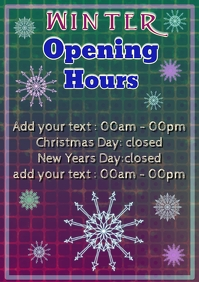 winter holiday opening and closed hours