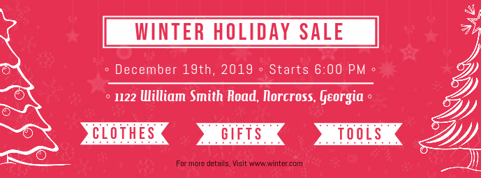 Winter Holiday Sale Facebook Cover Template