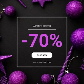 Winter Instagram Sale offer template Carré (1:1)