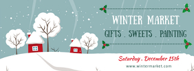 Winter Market Facebook Cover Template