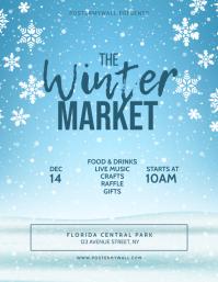 Winter Market Flyer Template