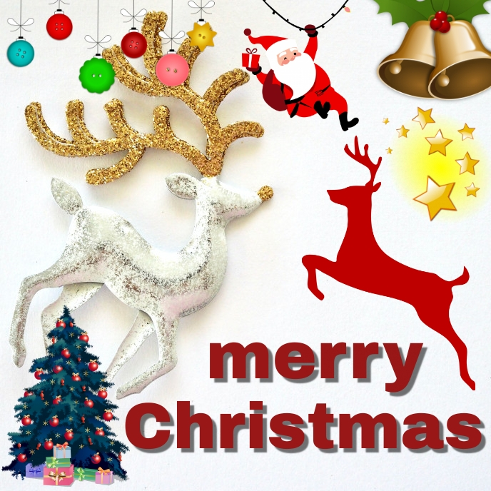 winter merry christmas creative celebration Sampul Album template