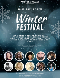 Winter Music Festival Flyer Design Template