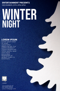 Winter Night Flyer Template