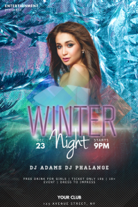 Winter Night Party Flyer Template