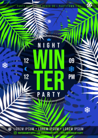 WINTER NIGHT PARTY POSTER A4 template