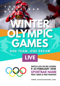 Winter Olympic Games Flyer Templates