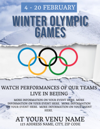 Winter Olympics Event Flyer Template