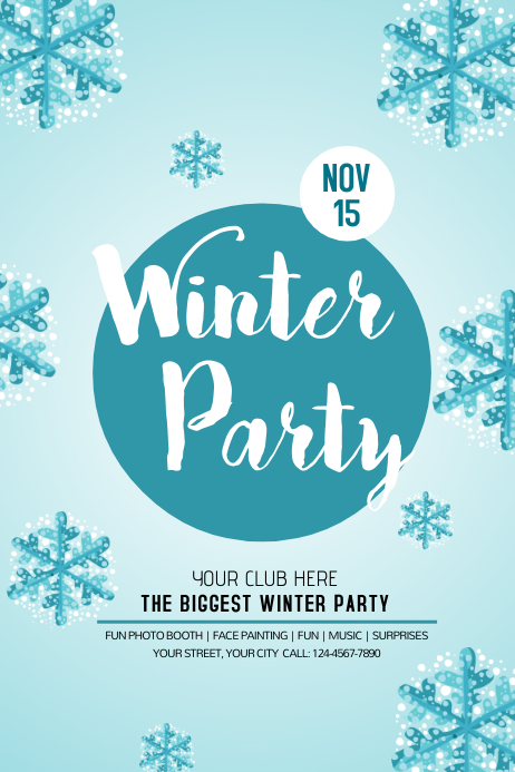 Winter Poster Templates  Postermywall