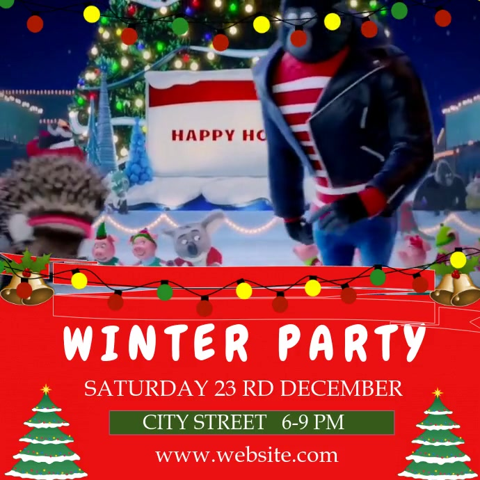 WINTER PARTY 2019 Instagram Post template