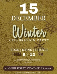 Winter Party Celebration Event Flyer Template