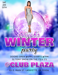 WINTER PARTY CLUB FLYER
