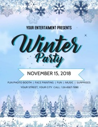 Winter Party Flyer (US Letter) template
