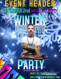 WINTER PARTY EVENT DIGITAL FLYER AD TEMPLATE