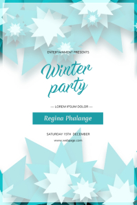 Winter Party Event Flyer Design Template