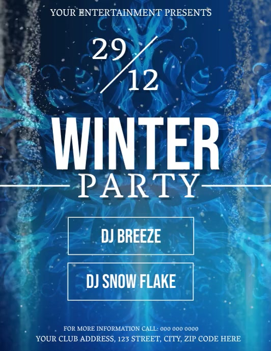 Winter Party Event Flyer Template