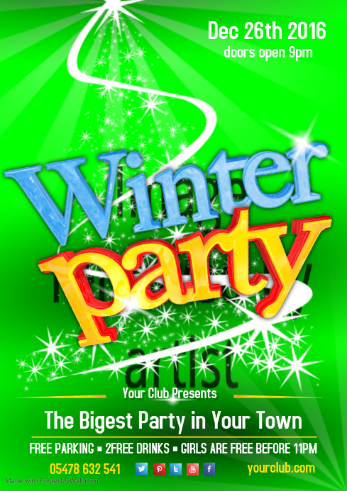 Winter Party Poster