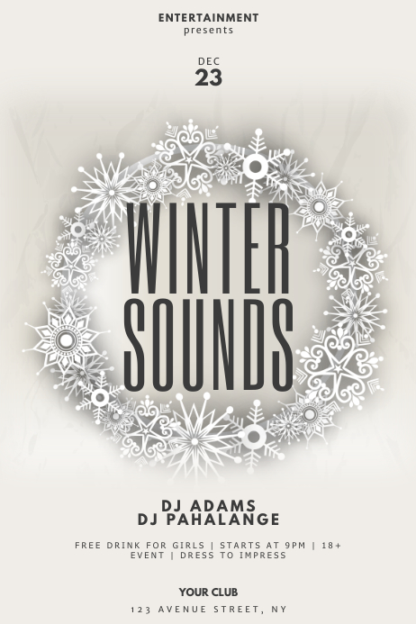 Winter Party Flyer Template