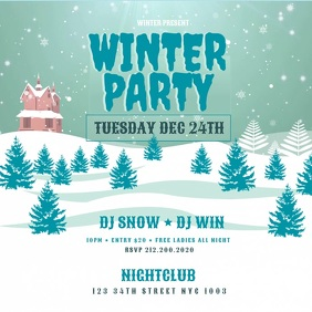 Winter Party Flyer VIDEO
