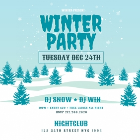 Winter Party Instagram Flyer Template