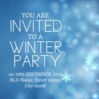 Winter party invitation