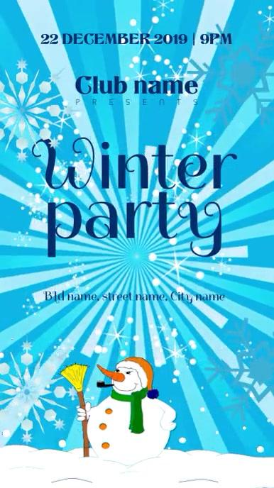 Winter party invite