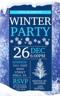 Winter Party Cover ng Libro template