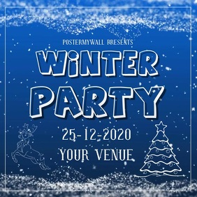 winter party template digital video