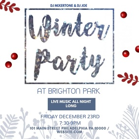 Winter Party Video Template