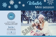 Winter Photography Mini Session Étiquette template
