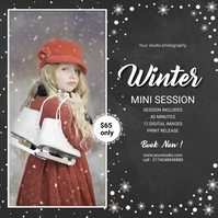 Winter Photography Mini Session Square (1:1) template