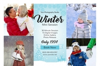Winter Photography Mini Session 标签 template