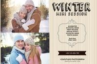 Winter Photography Mini Session Etiket template