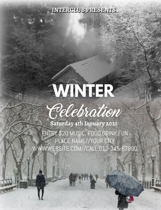 WINTER POSTER ใบปลิว (US Letter) template