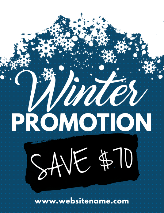 winter promotion flyer template postermywall