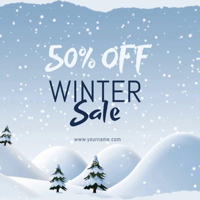 Winter retail sale template Instagram-opslag