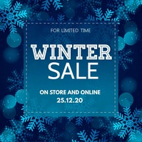 winter sale, Christmas retail, boxing day Vierkant (1:1) template