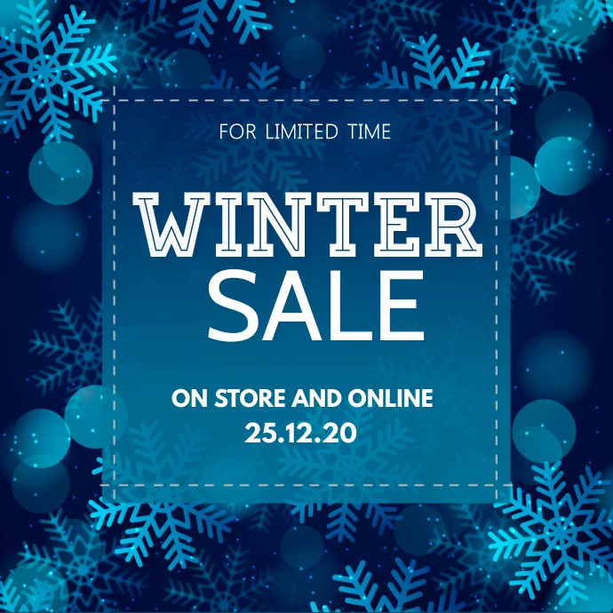 winter sale, Christmas retail, boxing day Persegi (1:1) template