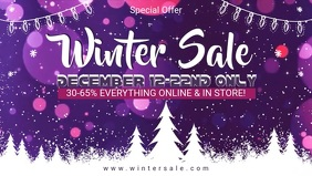 Winter Sale Advertisement Facebook Video
