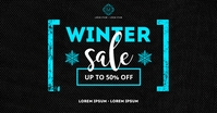WINTER SALE BANNER Imagem partilhada do Facebook template