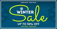 WINTER SALE BANNER Gambar Bersama Facebook template