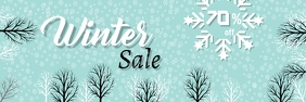 Winter Sale Banner Template 横幅 2' × 6'