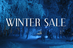 Blue Winter Sale Banner