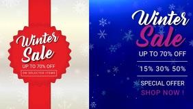 Winter sale Facebook Cover Video (16:9) template