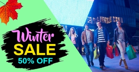 Winter Sale Facebook Shared Image template